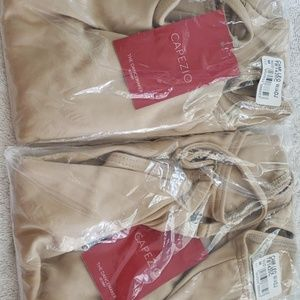 Nude cami. Never opened. Great for quick changes.